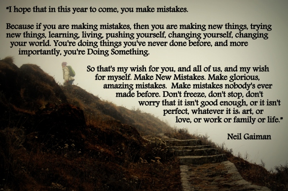 Make mistakes this year Gaiman quote